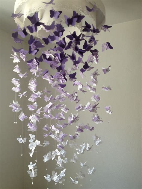How To Make A Paper Butterfly Mobile - paper lace chandelier monarch butterfly mobile by