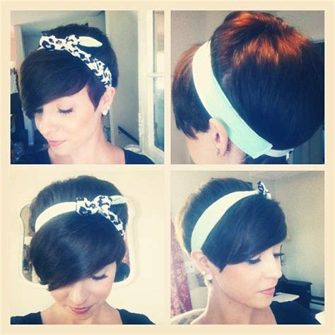cute hairstyles headband living vicariously through people with really cute short