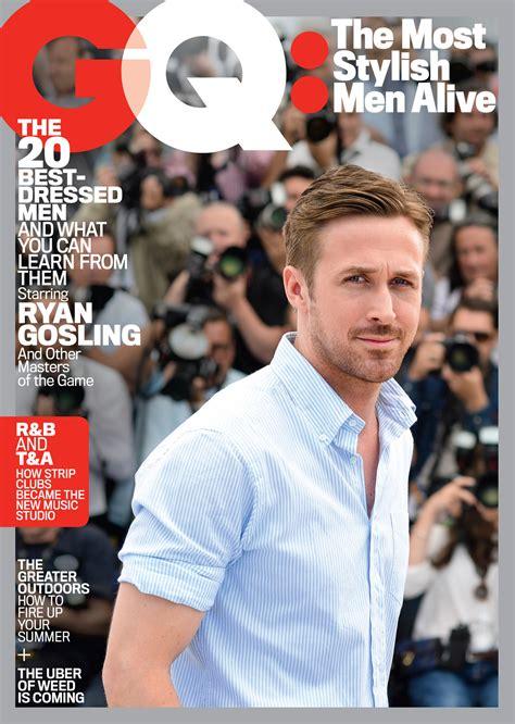 ryan gosling gq hairstyle ryan gosling kanye pharrell top gq s first ever list of