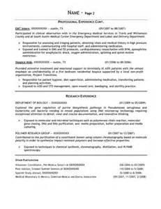 Biology Degree Resume Student Resume Samples Resume Prime