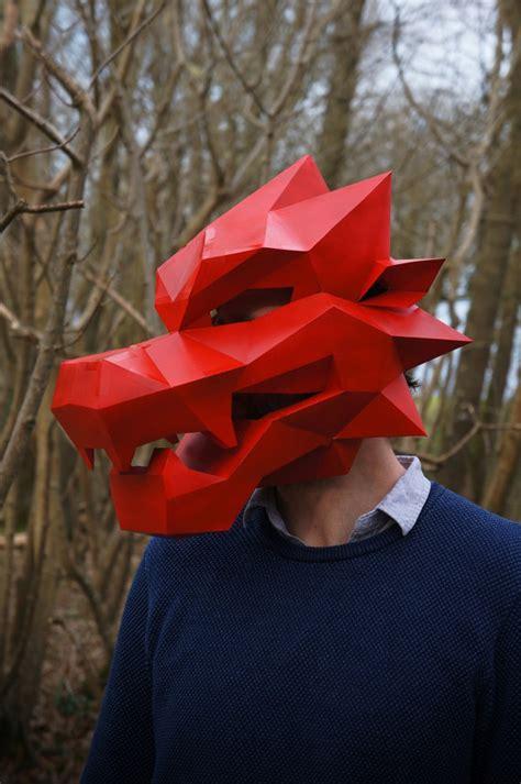 wonderful  geometric masks       cardboard