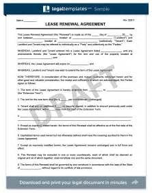 renewal lease agreement template create a free lease renewal print
