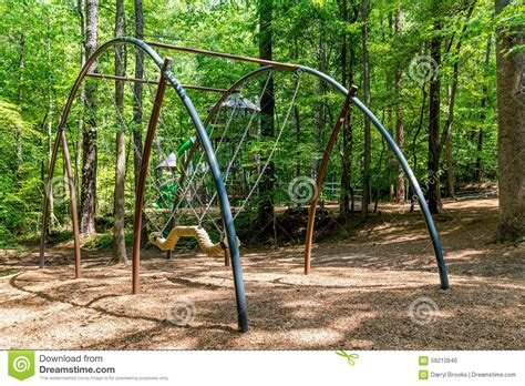 modern swing modern playground swing stock photo image 59210940