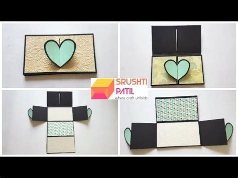 Heart Lock Accordion Card Tutorial By Srushti Patil Youtube Accordion Card Template