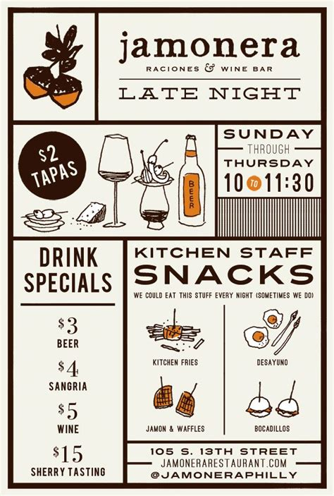 layout design of menu pin by littlespace on print and packaging pinterest