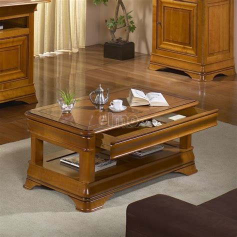 Table Basse Louis Philippe Merisier