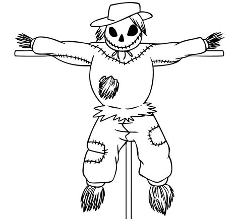 printable coloring pages scarecrow free printable scarecrow coloring pages for kids