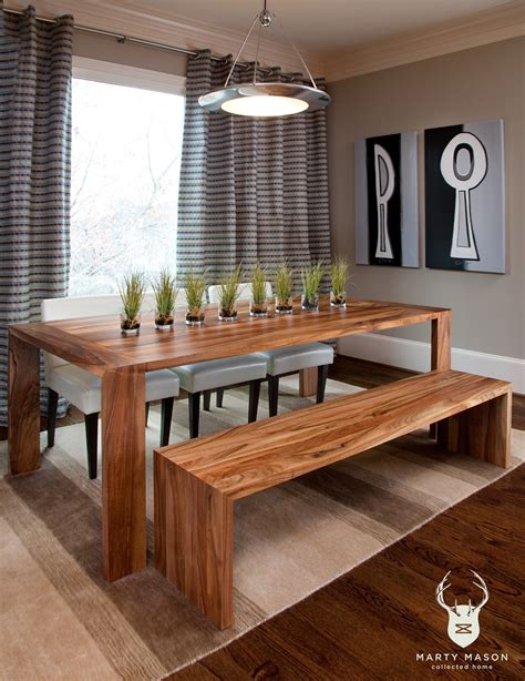 dining room table and bench save your limited space with diy dining table ideas
