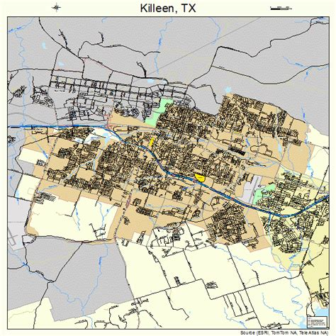 map killeen texas killeen texas map 4839148