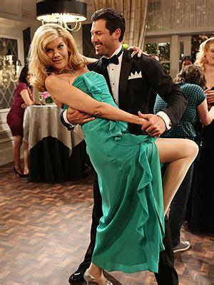 dwts pro maksim chmerkovskiy pictured  kristen johnston   exes pure dancing