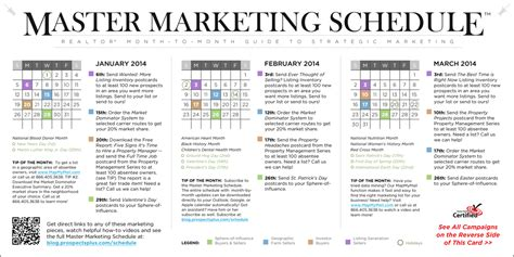 Master Marketing Schedule Archives Real Estate Marketing News Real Estate Marketing Calendar Template