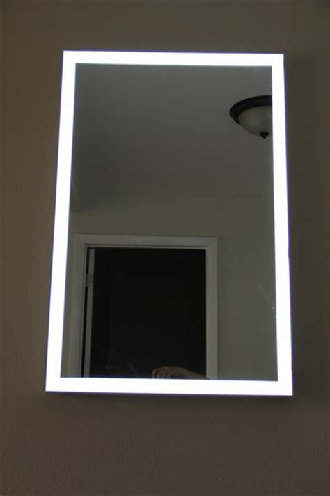 Modern Bathroom Mirror Frames Lighted Image Led Illuminated Mirror With Aluminum Frame