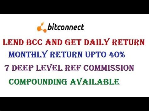 bitconnect explained bitconnect tutorial earn daily return with bitconnect