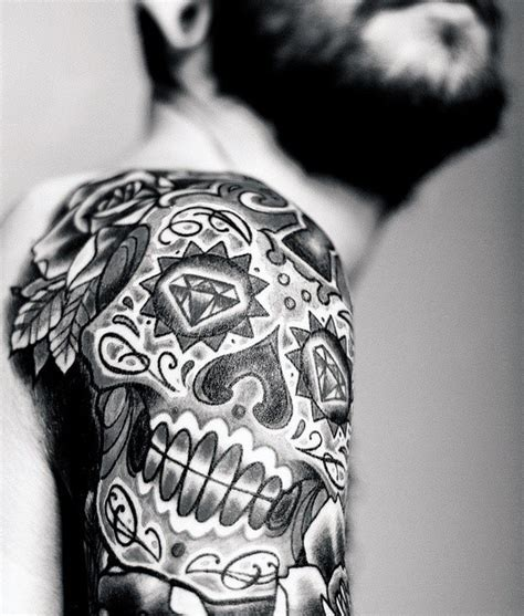 sugar skull tattoos for men 100 sugar skull designs for cool calavera ink
