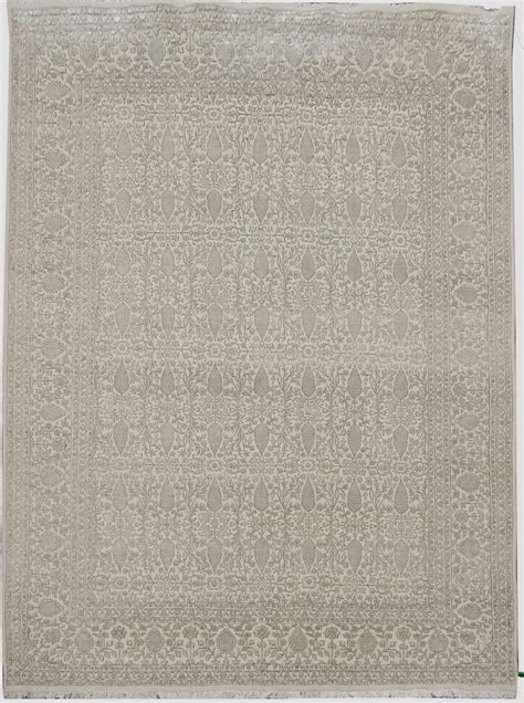Beige Gold Area Rug Oriental Hand Woven Rug 9 X 12 Wool 9 X 12 Wool Area Rugs