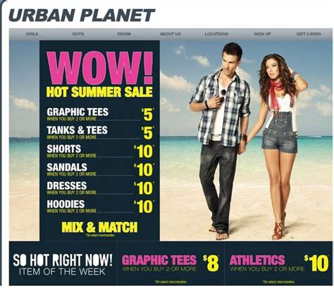 Urban Planet Gift Card Code - urban planet hot summer sale