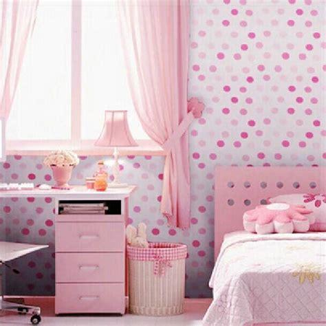Wallpaper Sticker Kamar Anak 10 Meter vinyl self adhesive wallpaper dots bedroom background wall papers pink blue waterproof for