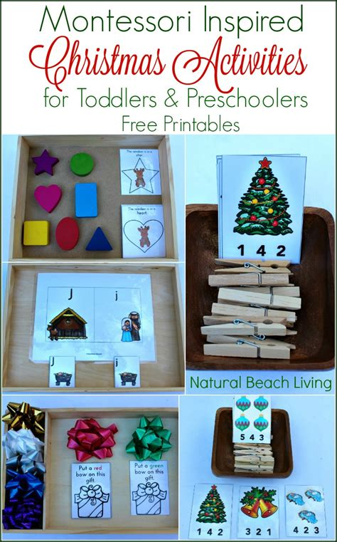 printable montessori activities montessori inspired christmas activities for preschoolers