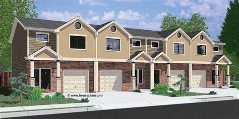 fourplex house plans fourplex townhouse house plan house front color elevation view for f 570 fourplex house