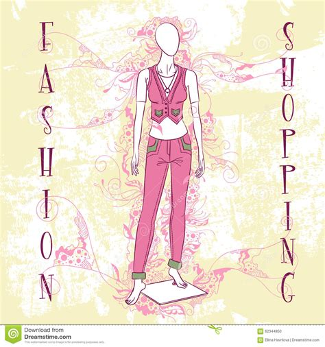 fashion illustration for sale decorative fashion illustration mannequin for sale stock illustration image 62344850