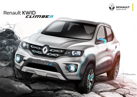 renault kid renault reveals kwid racer and kwid climber studies at