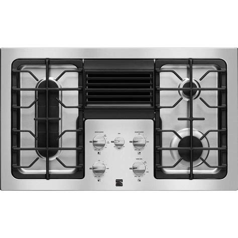36 Inch Stainless Steel Downdraft Gas Cooktop kenmore elite 31123 36 quot downdraft gas cooktop stainless steel