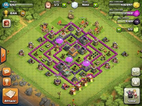 layout for town hall 8 clash of clans layouts town hall 8 trophy hunting layout