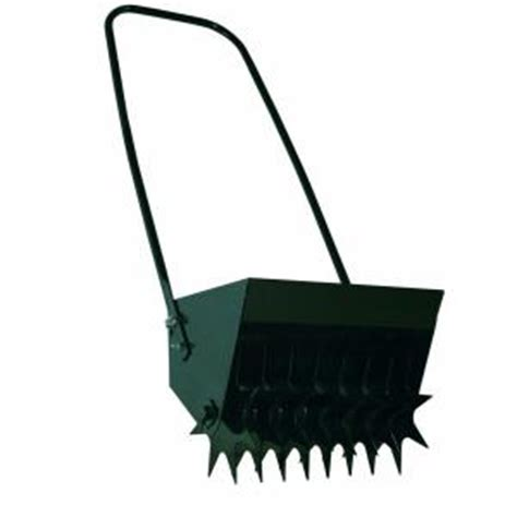 ohio steel 14 in push spike aerator 10 8 the home depot