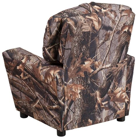 kids camo recliner contemporary camouflaged fabric kids recliner with cup