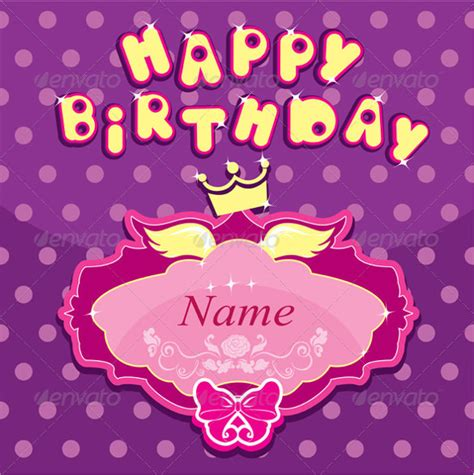 happy birthday princess card template birthday crown template 18 free psd eps in design