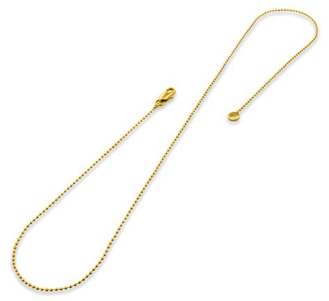 gold plated bead necklace gold plated 18 quot bead chain necklace 1 20mm