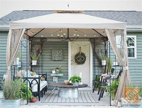 pit gazebo best 25 small covered patio ideas on cover