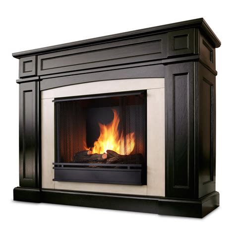 Ventless Fireplace by Real Rutherford Ventless Gel Fireplace In Walnut