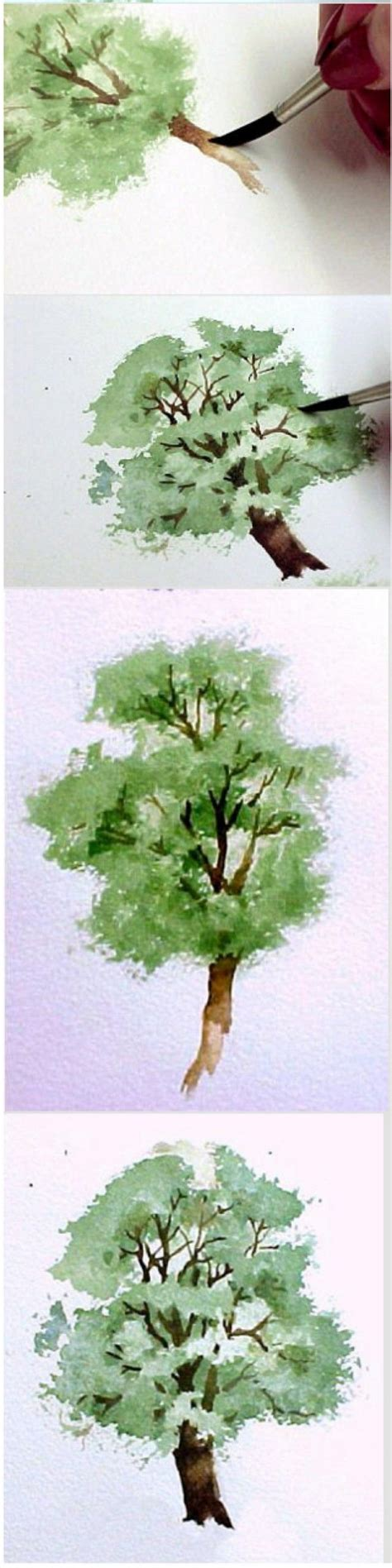 tutorial watercolor trees 17 best images about painting lessons on pinterest