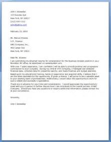 Cover Letter Exles Business by Cover Letter For Business Analyst Resume Downloads