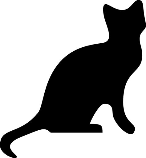 cat silhouette template cat silhouette 2 clip at clker vector clip