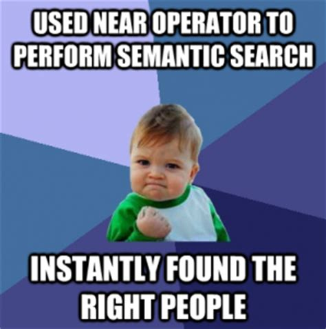 Meme Search Engine - using extended boolean to achieve semantic search in