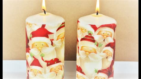 How To Decoupage Candles - decoupage candles fast easy tutorial diy