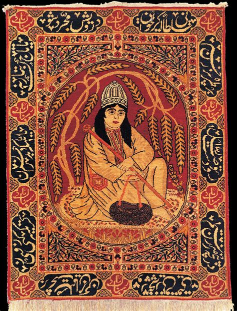 pictorial rug antique tabriz pictorial rug quot dervish quot azerbaijan late 19th century state museum of