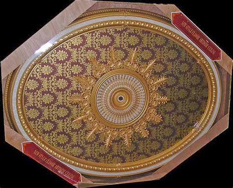 wishihadthat oval ceiling medallion gold on
