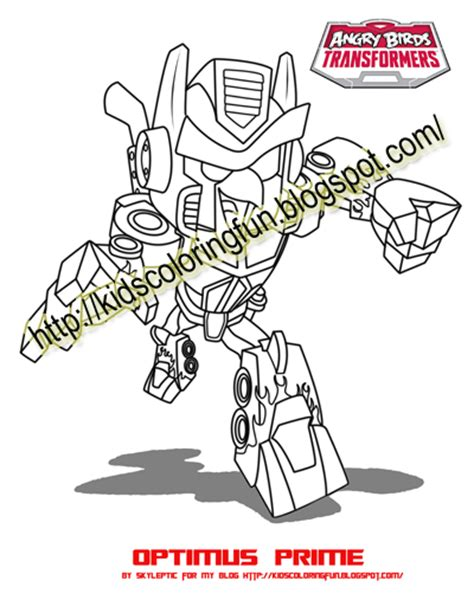 coloring pages transformers angry birds angry birds transformer optimus prime coloring pages all