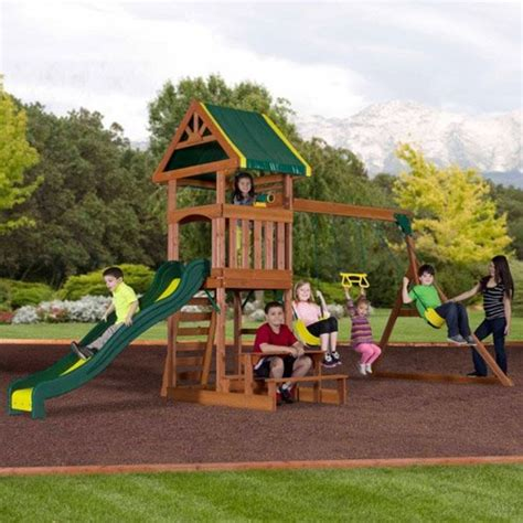 best swing sets for kids best rated wooden backyard swing sets for older kids on