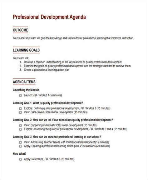business development meeting agenda template 28 images