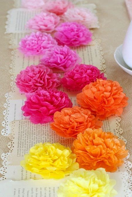 How To Make Mexican Paper Flowers With Tissue Paper - mexican colorful tissue paper flowers crafts