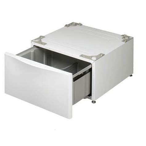 Lg Washer Pedestal Parts lg 14 inch pedestal with drawer white clothes washing machine replacement