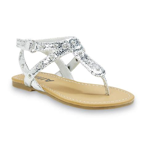 silver toddler sandals toddler s mini jude silver sandal shop your way