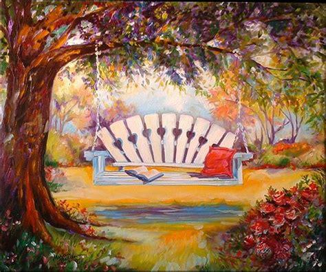 swing artists my garden swing by marcia baldwin from landscapes