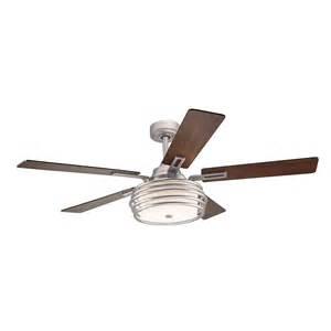 kichler lighting ceiling fans kichler lighting 52 in brushed nickel metal band ceiling