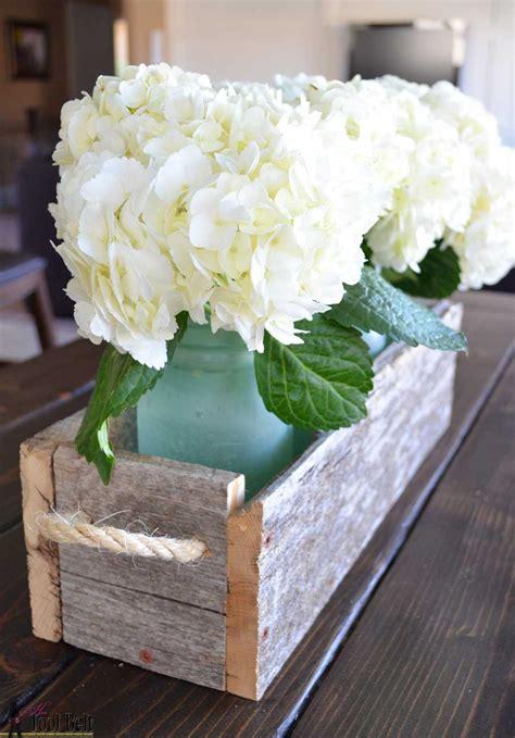 easy reclaimed wood box centerpiece  tool belt