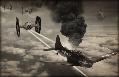 artist injects star wars into world war ii photos geektyrant